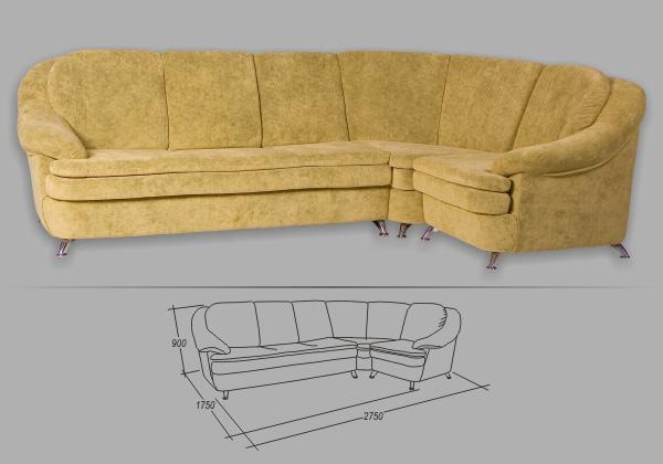 "Угловой диван ""Кардинал"""