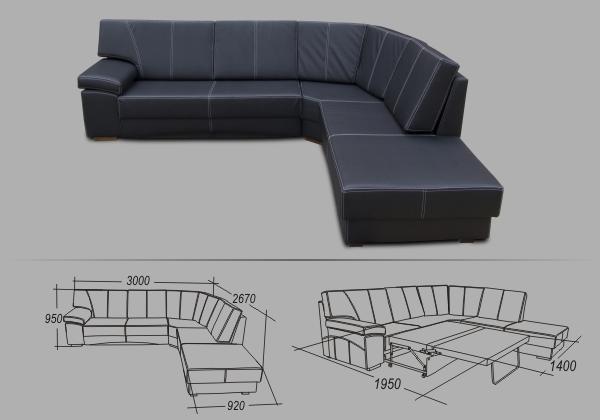 "Угловой диван ""Лексус-премиум"""