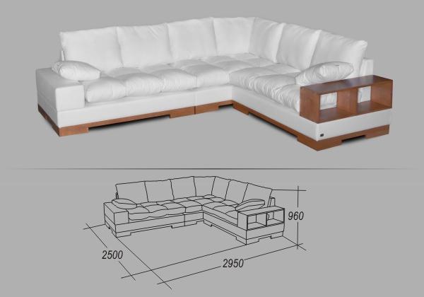 """Угловой диван """"Нежное прикосновение"""""""