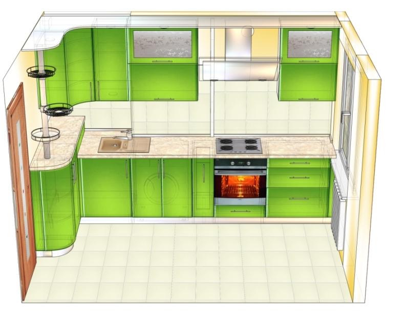 проект 1 зеленой кухни