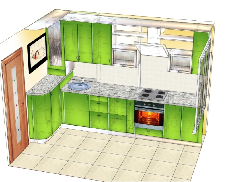 проект 2 зеленой кухни