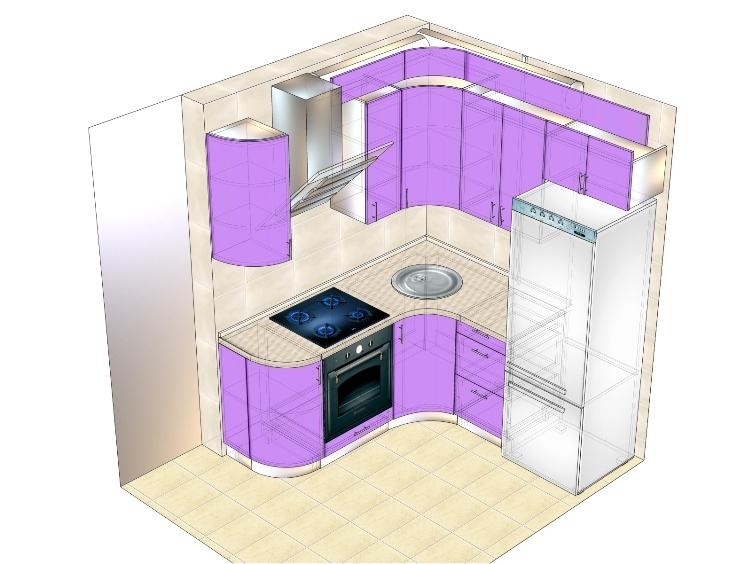 проект маленькой кухни (вариант 1)