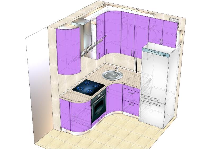 проект маленькой кухни (вариант 2)
