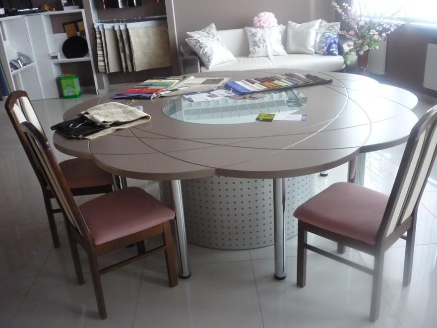 стол для совещаний (МДФ + стекло)