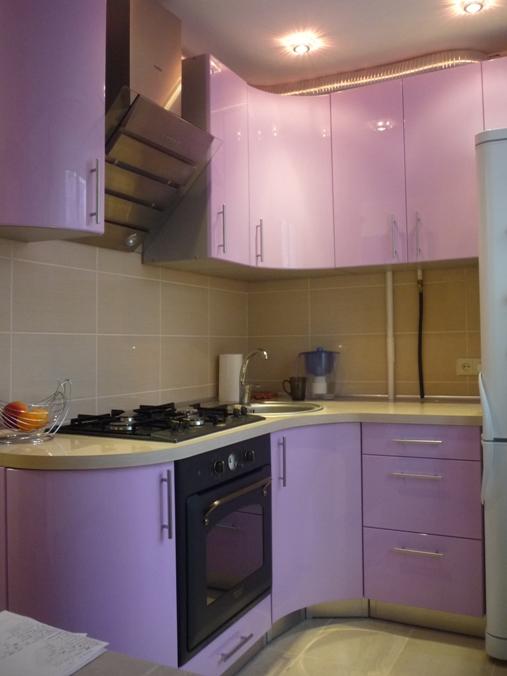 воплощенный проект маленькой кухни