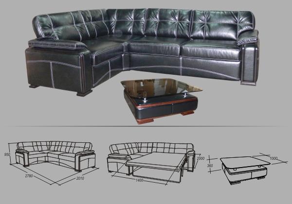 """Угловой диван """"Лексус"""""""