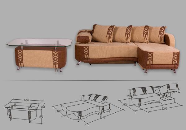 """Угловой диван """"Монако"""""""