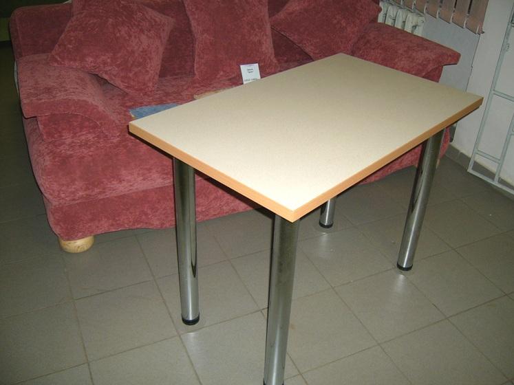 стол с хромированными ножками