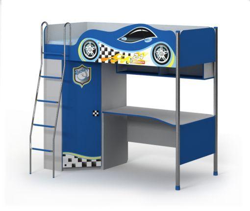 Двухъярусная кровать со столом и шкафом Driver Др-16-2