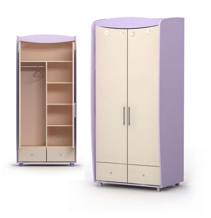 Шкаф двухдверный гардеробный  Si-02-1