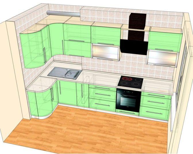 чертеж будущей кухни