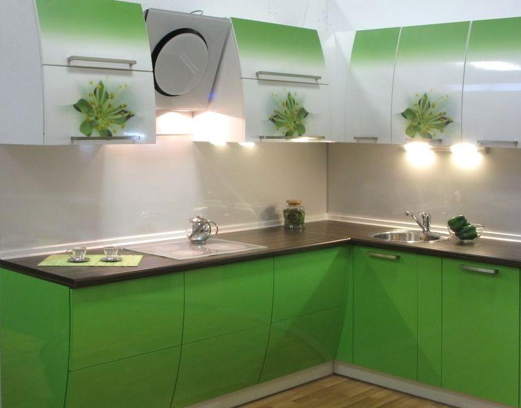 полноцветная печать на фасаде кухни