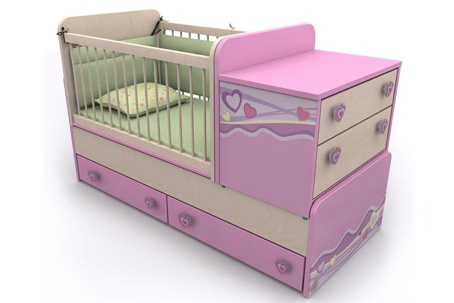 посмотреть многофункциональную кровать-манеж