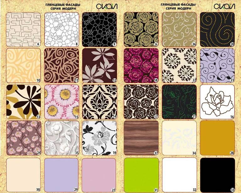 образцы цветных фасадов