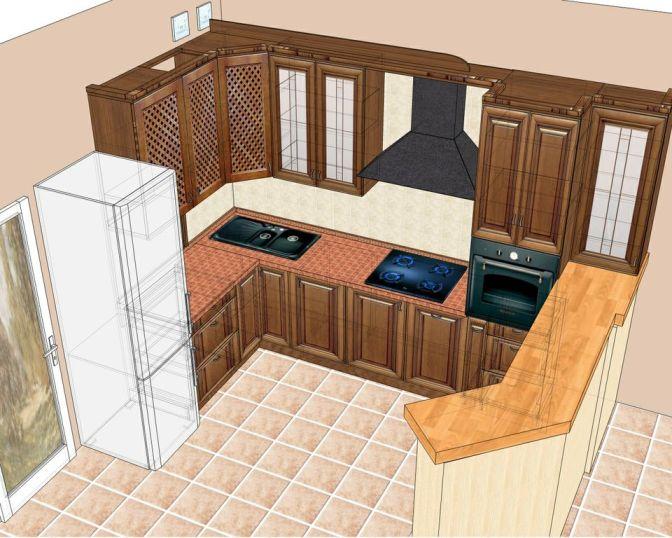 проект кухни: частный дом