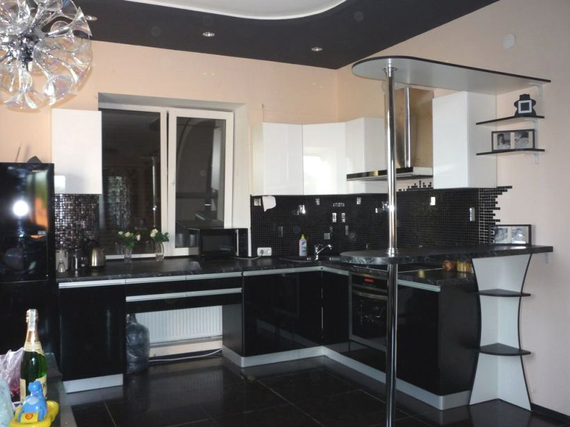 свободная планировка кухни в частном доме