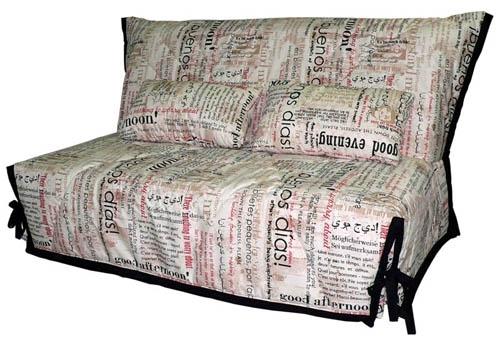"""диван """"Блюз"""" в ткани """"Газета"""""""