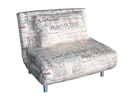 "диван ""Флирт 101"" в ткани ""Газета"""