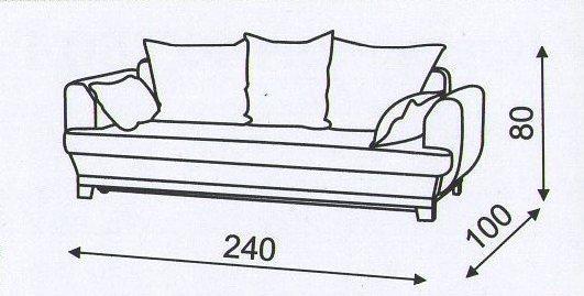 "схема размеров дивана ""Флирт"""