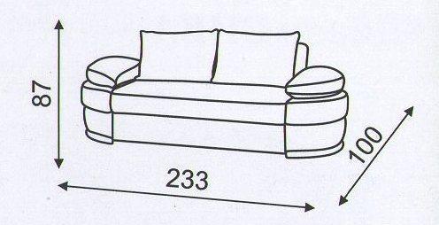 """Схема размеров  дивана """"Калейдоскоп"""""""