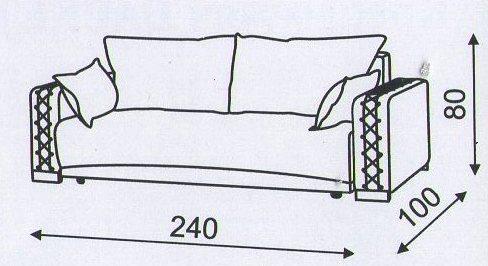 "Схема размеров дивана ""Кантри"""