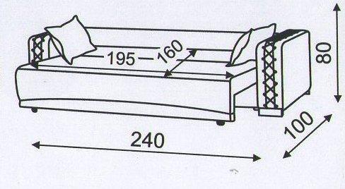 "Схема разложенного  дивана ""Кантри"""