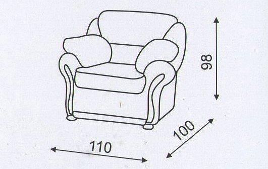 """Схема размеров кресла """"Амфора"""""""