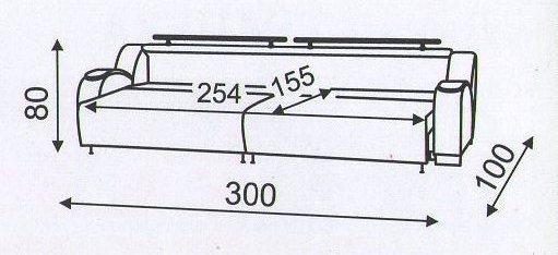 """Схема разложенного 3-метрового """"Маэстро"""""""