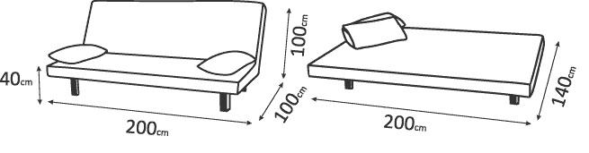 """схема размеров диванов """"Диско News"""""""