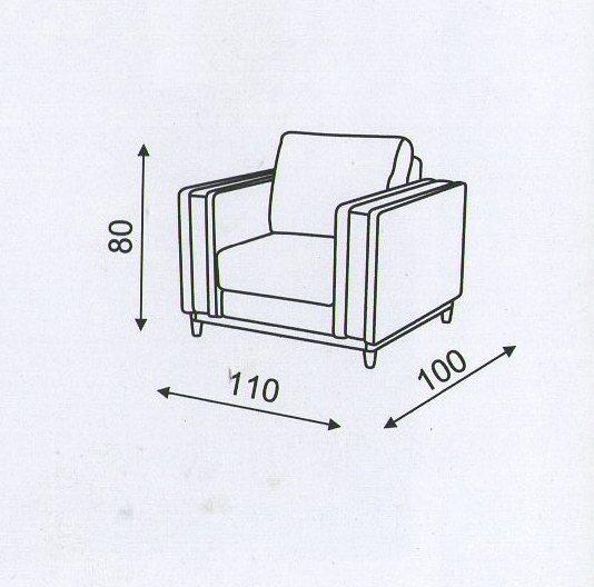"""Схема кресла в комплект дивану  """"Блюз"""""""