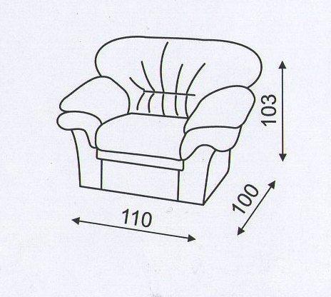 """схема кресла в комплект к дивану """"Вива"""""""