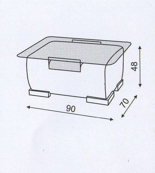 Схема размеров столика