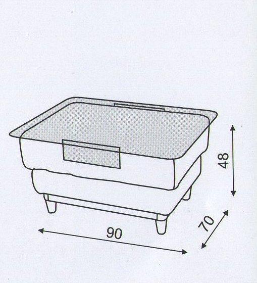 """Схема столика в комплект дивану  """"Блюз"""""""