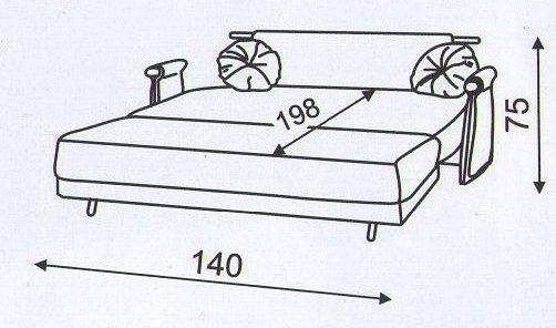 """схема дивана """"Сюрприз"""" в разложенном виде"""