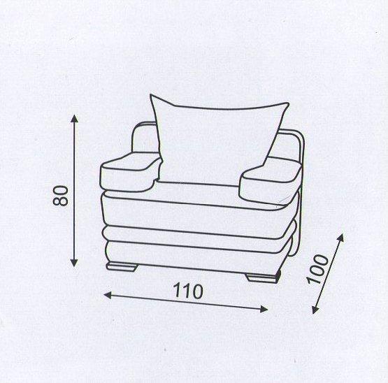 """Схема размеров кресла """"Танго"""""""
