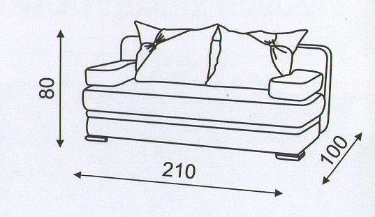 "схема размеров дивана ""Танго"""