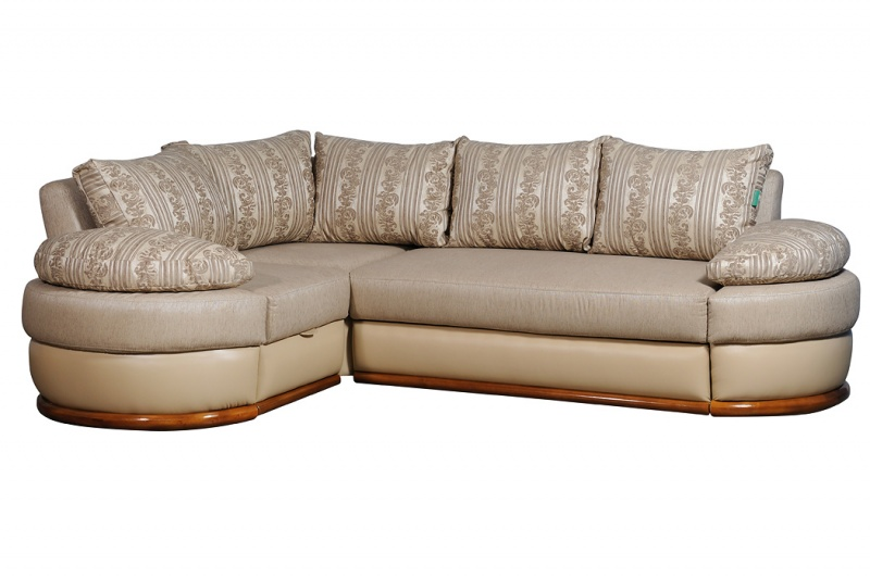 """Уголок """"КАЛЕЙДОСКОП"""": основа - плетеная ткань, подушки - шинил,  отделка - кожзам"""