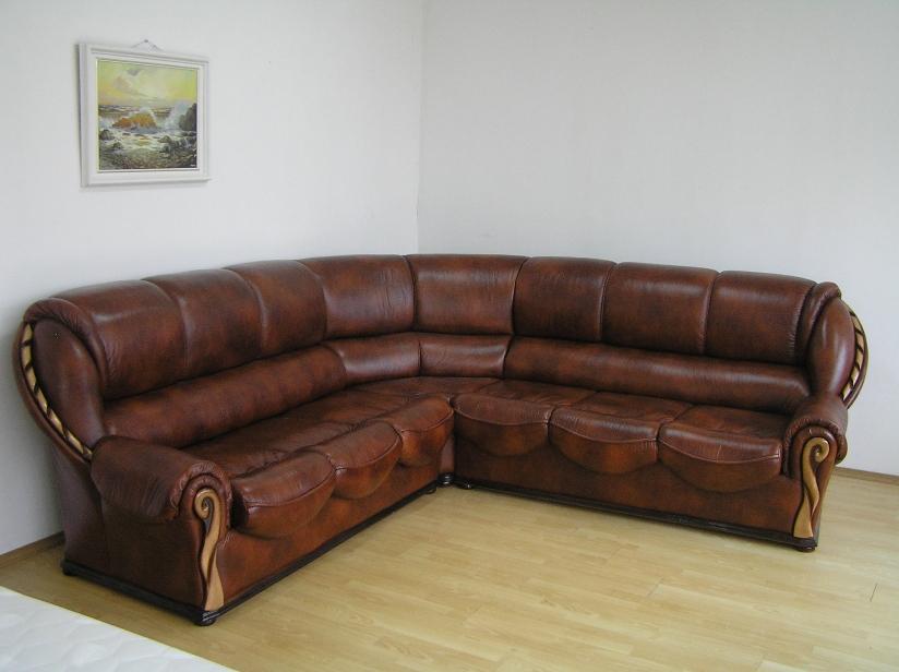 """Угловой диван """"Луиза"""" в натуральной коже"""
