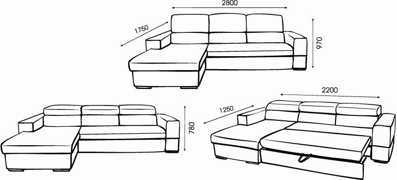 """Схема углового дивана """"Сенатор"""
