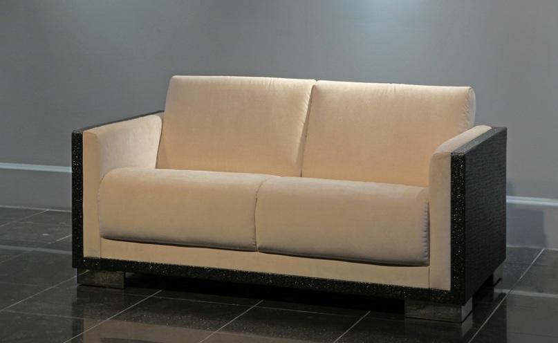 """Офисный диван """"Хилтон"""" в тканях велюр и кожзам"""