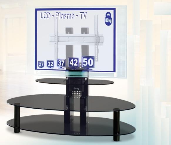 ТВ-стойки из стекла