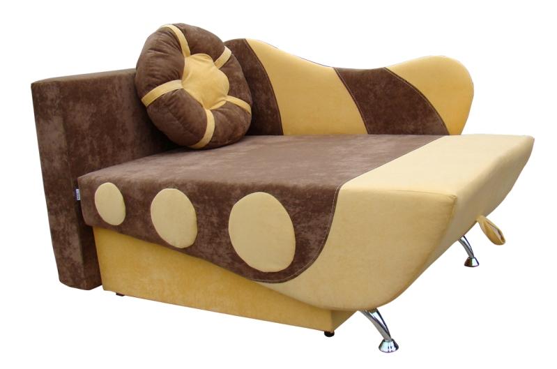 """Диванчик """"Кораблик"""" в ткани """"ягуар шоколад желтый"""""""