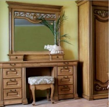 """Спальня """"Эдельвейс"""": туалетный столик с зеркалом"""