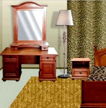 """Спальня """"Эльза"""": с туалетным столиком и зеркалом"""