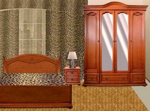 """Спальня """"Эльза"""" с 4-дверным шкафом"""