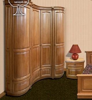 """Спальня """"Княжна"""": шкаф с гнутым фасадом"""