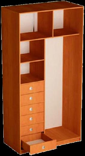Наполнение 3-дверного шкафа (тип 1, вариант 2)