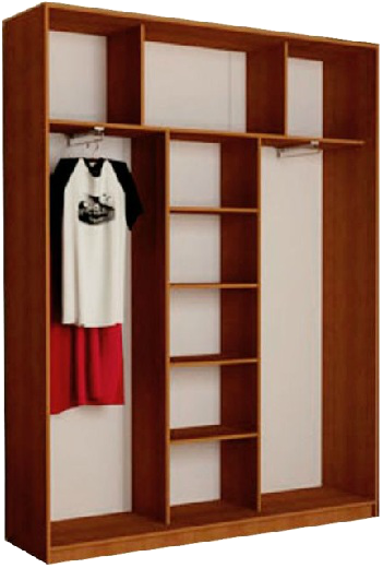 Наполнение 3-дверного шкафа (тип 2, вариант 1)