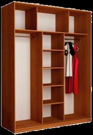 Наполнение 3-дверного шкафа (тип 2, вариант 2)