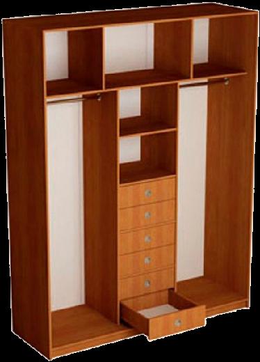 Наполнение 3-дверного шкафа (тип 2, вариант 3)